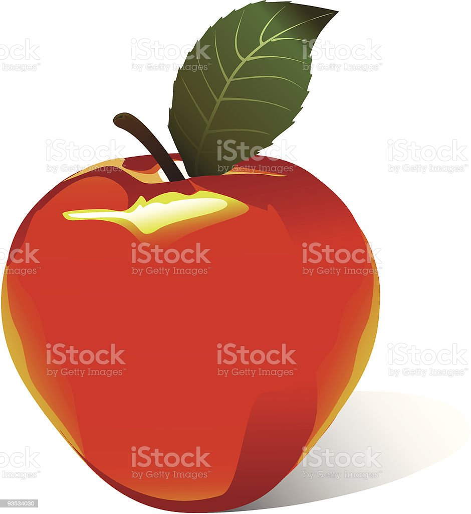 Vector apple vector art illustration
