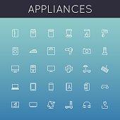 Vector Appliances Line Icons