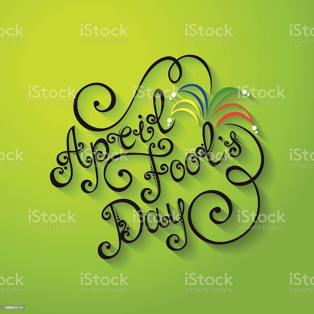 Vector April Fool's Day Inscription, Holiday Symbol vector art illustration