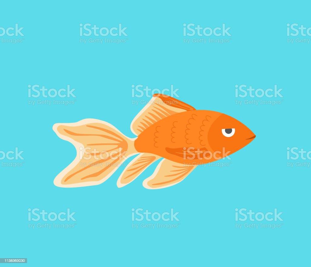 ベクターアクアリウム黄金魚シルエットイラストあなたのデザインのための
