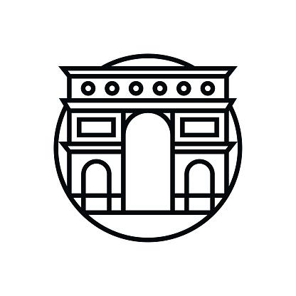 Vector Arc de Triomphe Icon