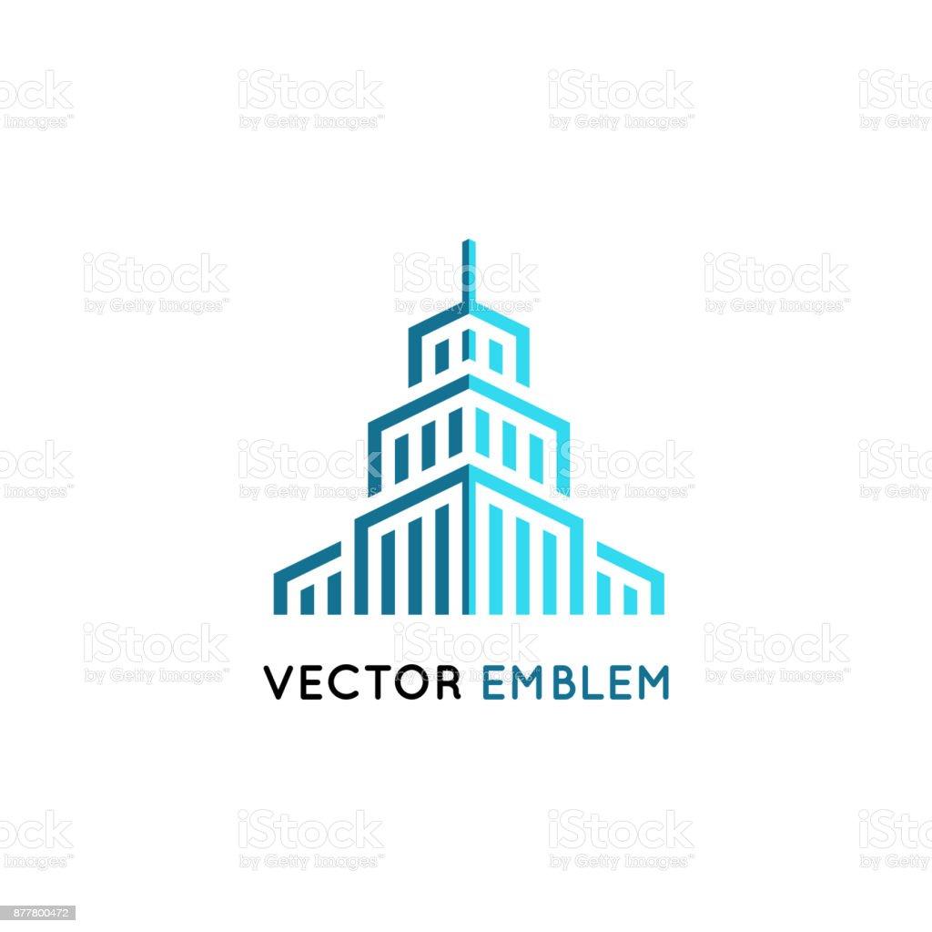 ・ ベクトルの建築記号 - 超高層ビルの図 ベクターアートイラスト