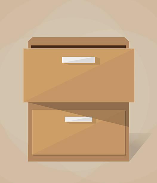 bildbanksillustrationer, clip art samt tecknat material och ikoner med vector archive filling cabinet - byrålåda