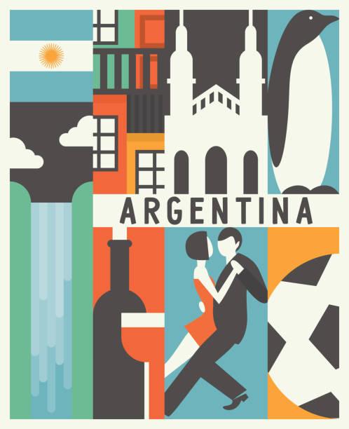 illustrations, cliparts, dessins animés et icônes de vector background argentine - argentine