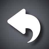 Vector arrow back icon