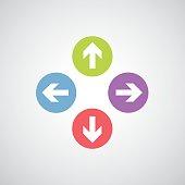 vector arrow sign icon