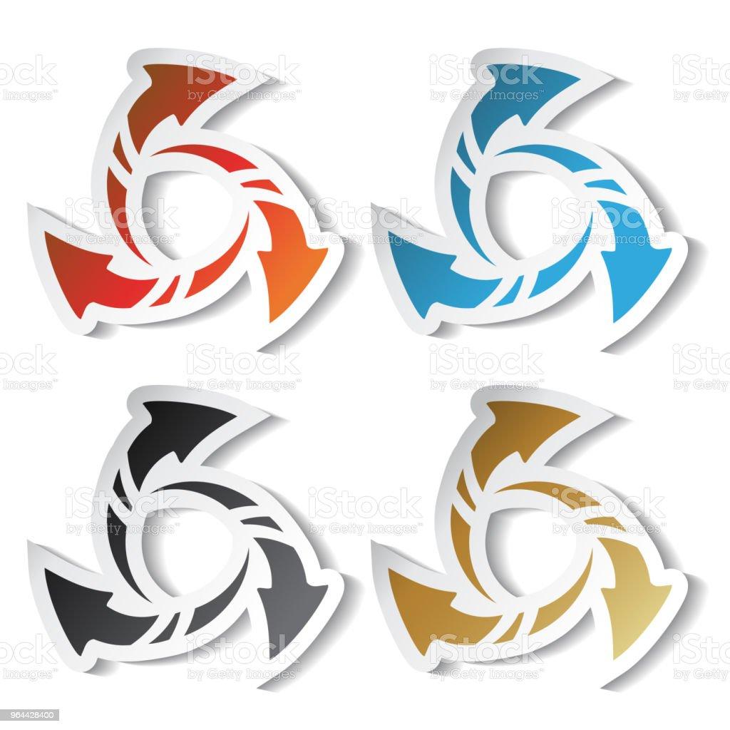 Vetor adesivos de flecha, símbolo de recarga - Vetor de Alvo royalty-free