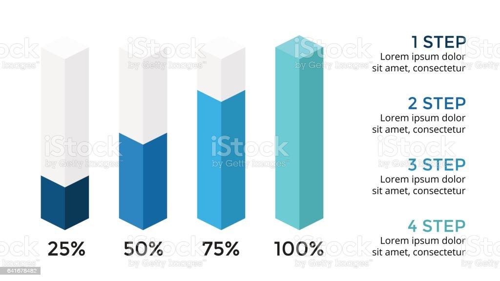 Vectores Flechas 3d Infografía Diagrama Gráfico Presentación ...