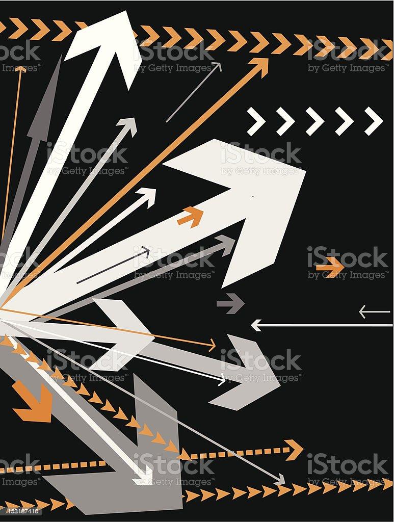 vector arrows background royalty-free stock vector art