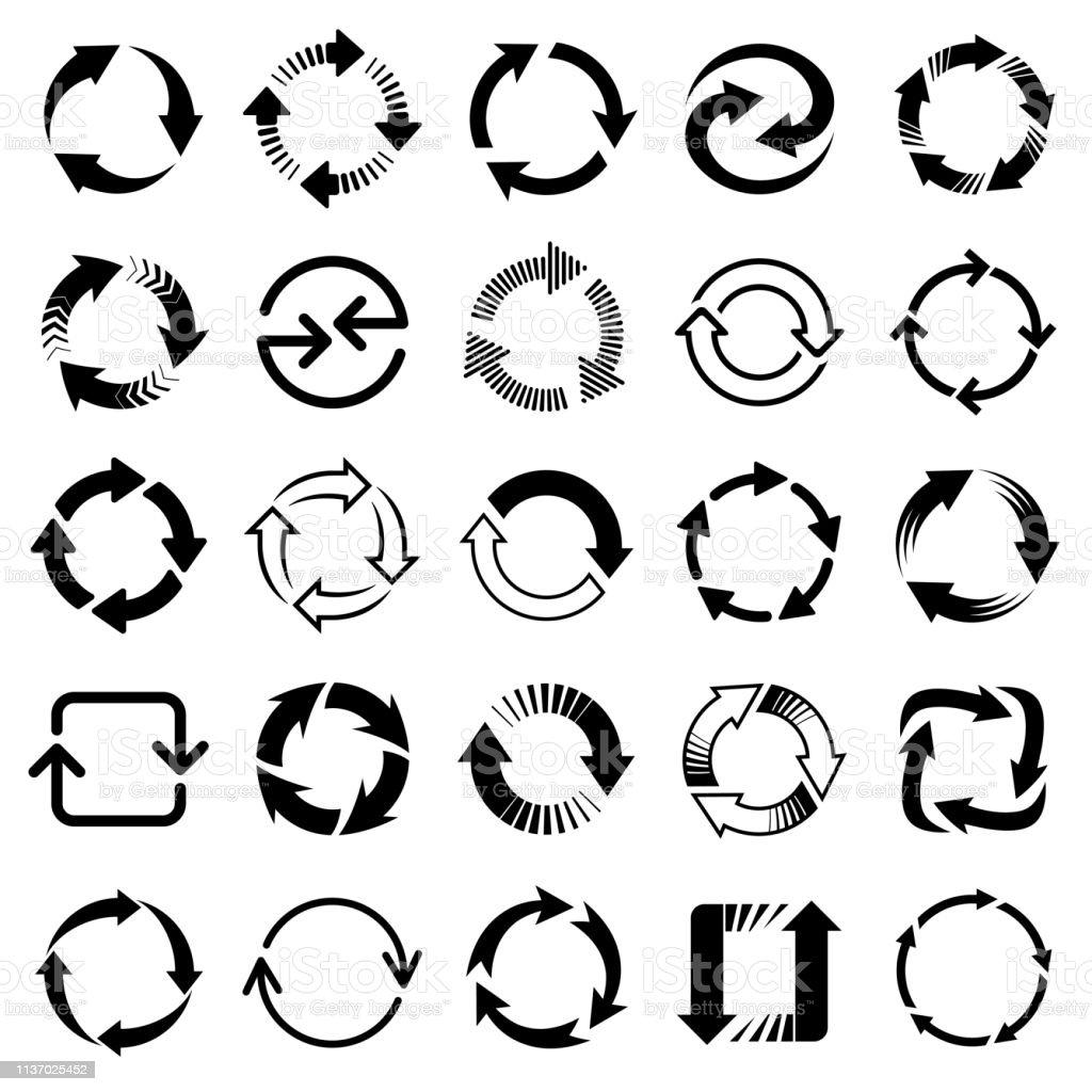 Vector Arrows Circular Design Elements Stock Illustration - Download