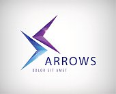 vector arrows icon, logo isolated