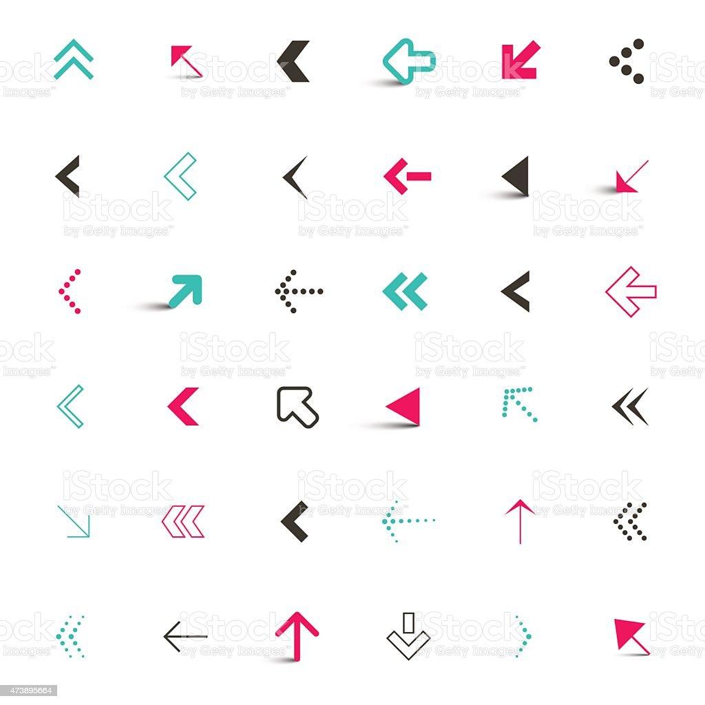 Vector Arrows Icons Set Illustration vector art illustration