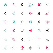Vector Arrows Icons Set Illustration