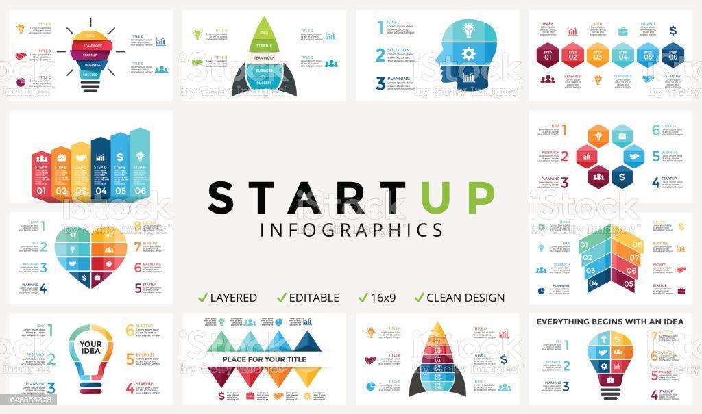Vektorpfeile Infografik Diagramm Grafik Fortschritt Präsentation ...
