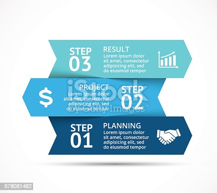 istock Vector arrows infographic, diagram chart, graph presentation. Business concept with 578081462