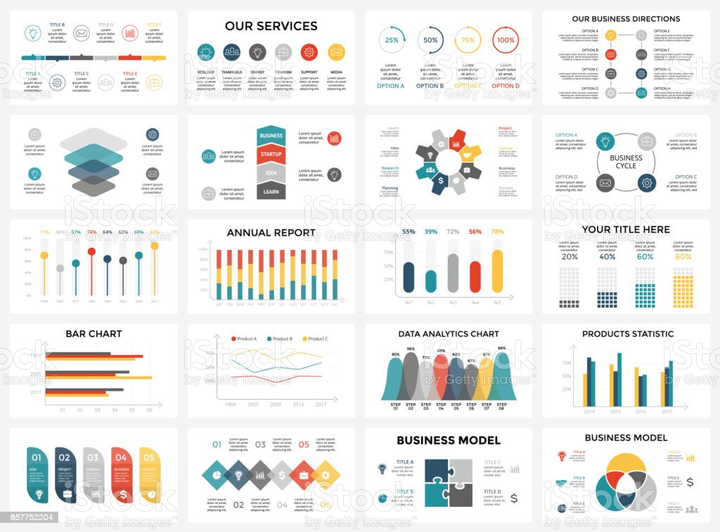 Vector arrows infographic, diagram chart, graph presentation. Business report with 3, 4, 5, 6, 7, 8 options, parts, steps, processes. Timeline map. Data analytics. Percentage status. Growth success concept - ilustração de arte vetorial