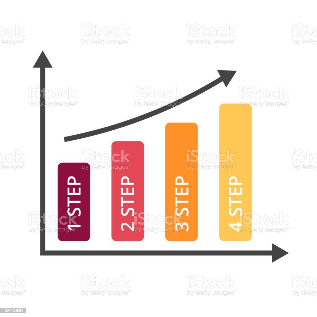 Vector arrows infographic, diagram chart, graph presentation. Business growth success concept with 4 options, parts, steps, processes. Performance columns royalty-free vector arrows infographic diagram chart graph presentation business growth success concept with 4 options parts steps processes performance columns stock vector art & more images of arrow symbol