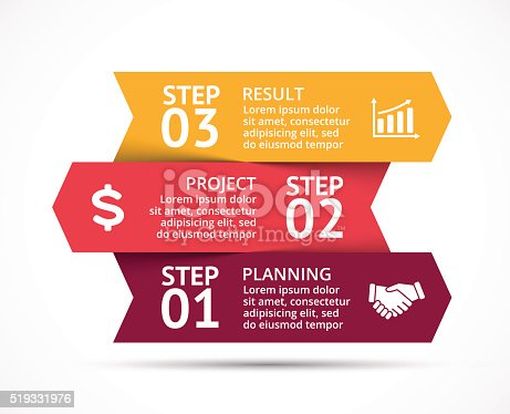 istock Vector arrows infographic, diagram, graph, presentation, chart. Business concept with 519331976