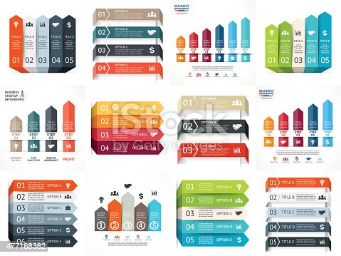 istock Vector arrows lines infographics set. Template for diagram, graph, presentation 477168382