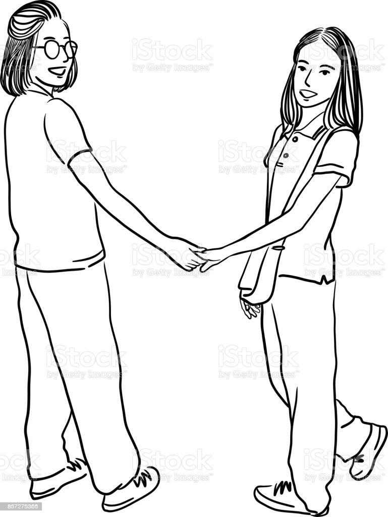 Lesben berühren sich gegenseitig
