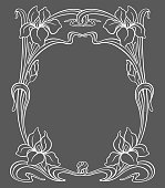 Vector art nouveau ornament.