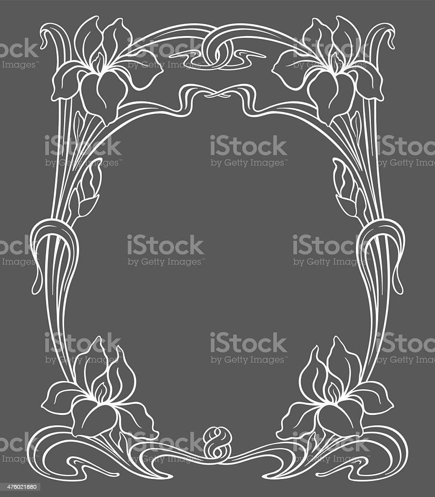 Vector art nouveau ornament. vector art illustration