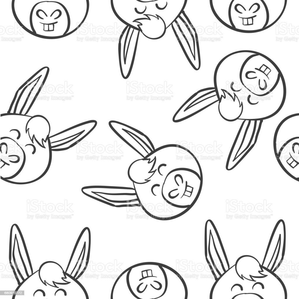 Vector art of animal head doodles collection stock royalty-free vector art of animal head doodles collection stock stock vector art & more images of animal