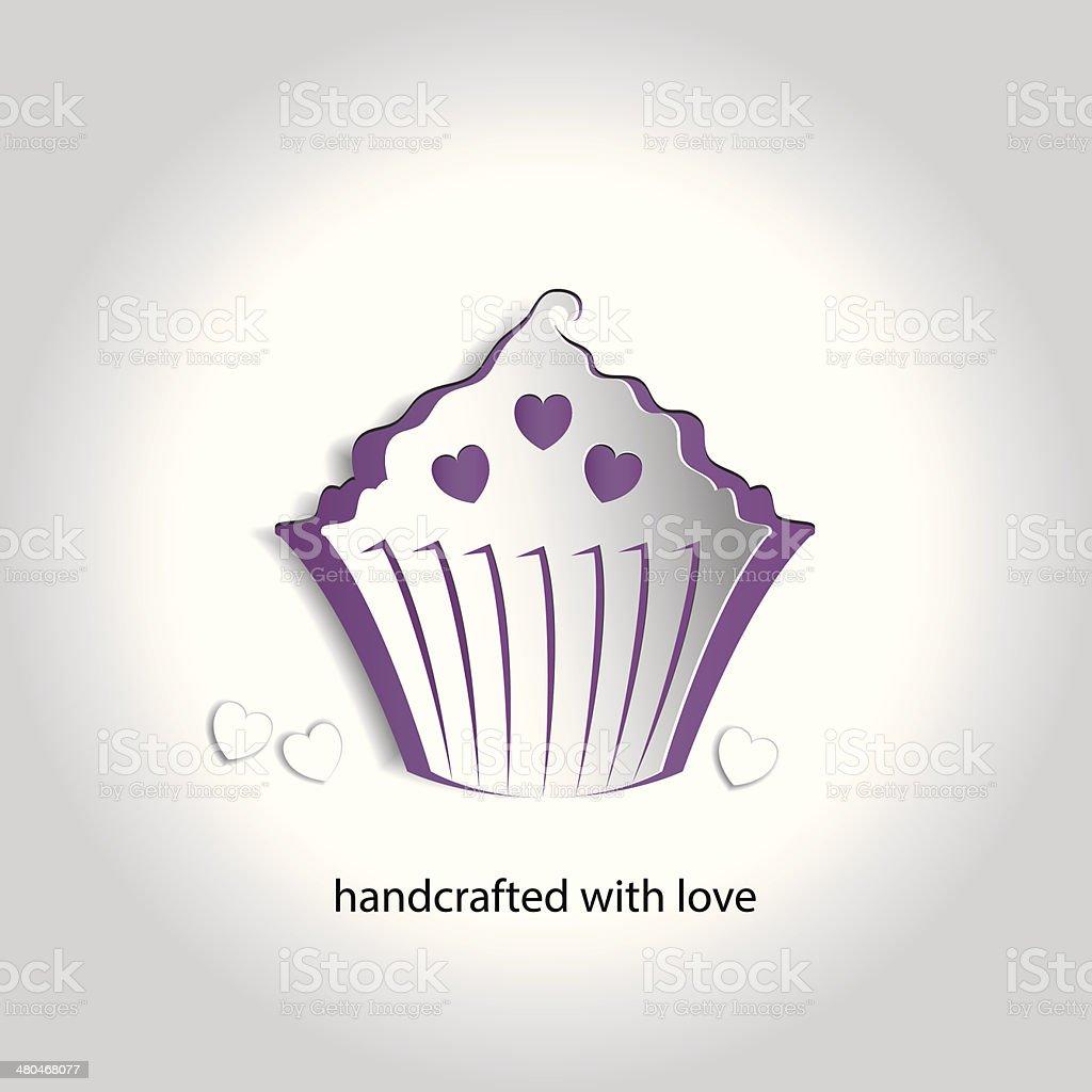 Vector Art Paper Icon Design Cupcake Bakery Shop royalty-free stock vector art
