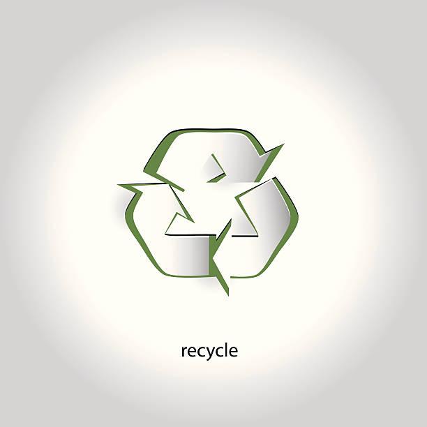 Vector Art Paper Icon Design Recycling Symbol vector art illustration