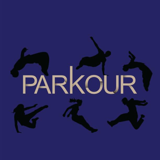 bildbanksillustrationer, clip art samt tecknat material och ikoner med vektor konst. parkour är en man och en flicka. - parkour