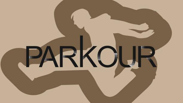 bildbanksillustrationer, clip art samt tecknat material och ikoner med vektor konst. parkour är en man. kliv framåt. - parkour