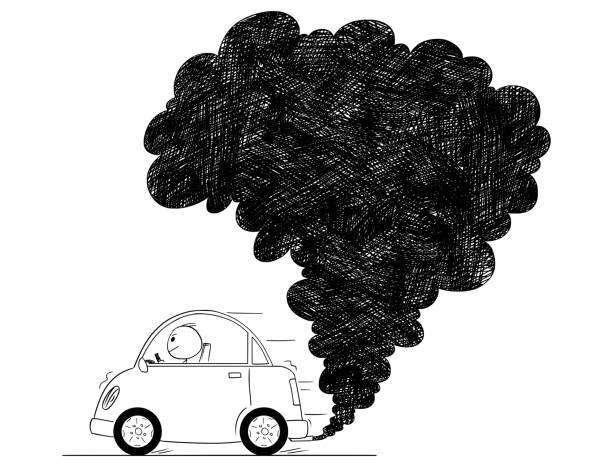 Images For > Car Exhaust Smoke Clip Art | Pink convertible, Clip art,  Illustration art