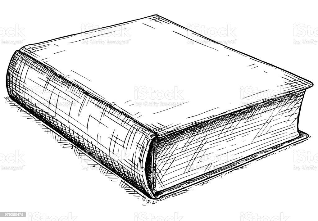 Vektorgrafik Künstlerischen Zeichnung Der Alten Schloss Buch Stock ...