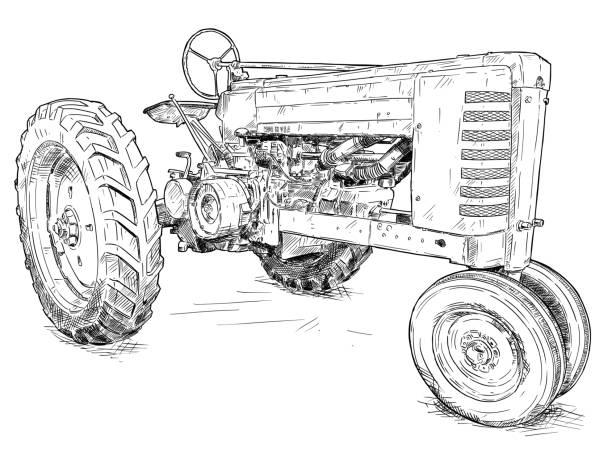 147 antique tractor illustrations & clip art - istock  istock