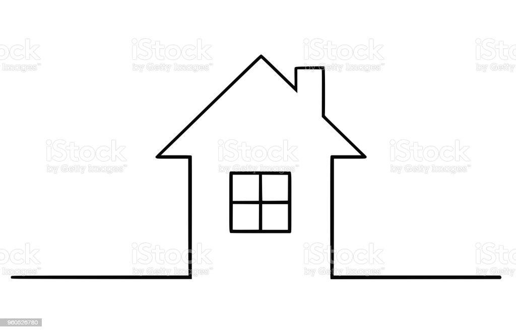 Vector Illustration Dessin Artistique De La Maison Familiale