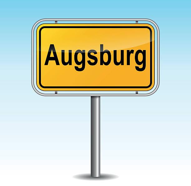 Vektor augsbourg Wegweiser – Vektorgrafik