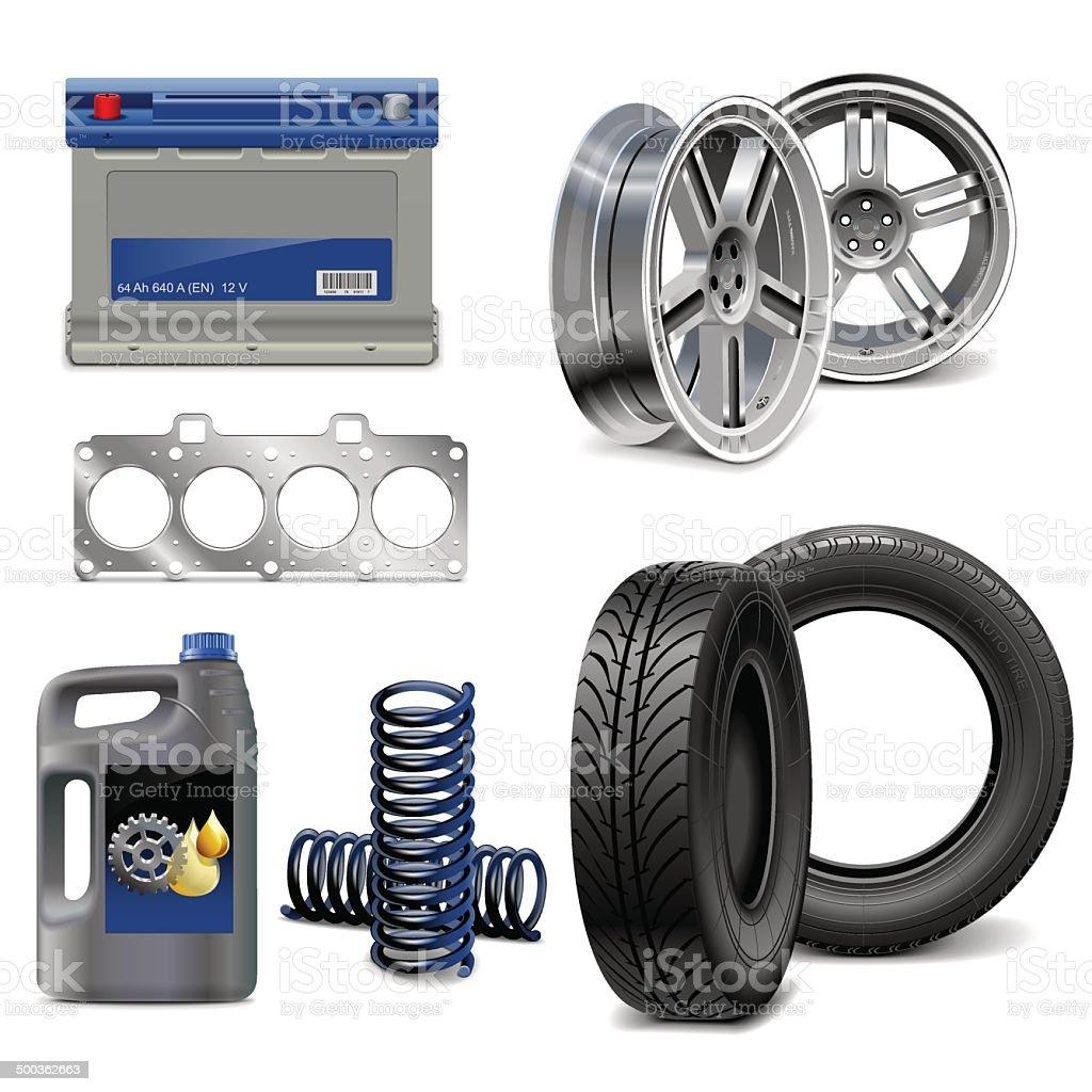 Vektor Auto Parts – Vektorgrafik