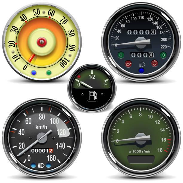 Vector Automotive Speedometer – Vektorgrafik