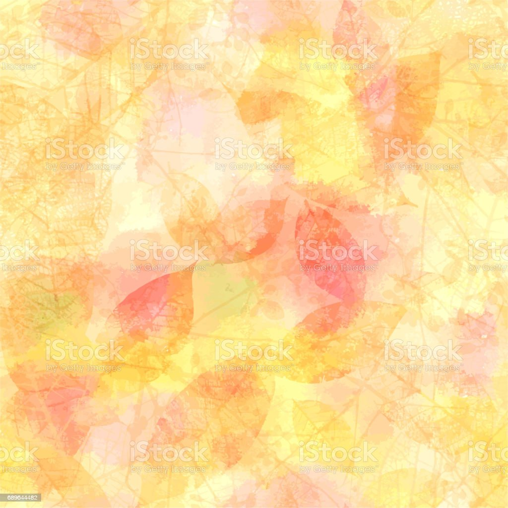Vector autumn banner design template with skeleton leaves and br ベクターアートイラスト