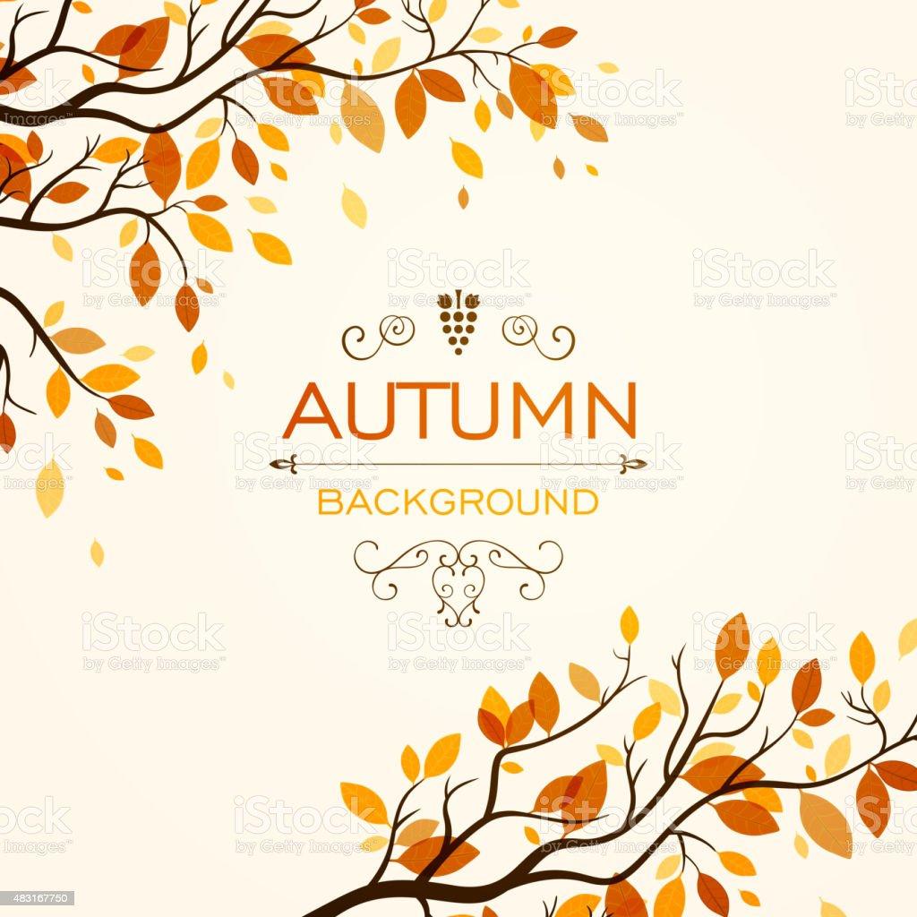 Vector Autumn Design Vector Illustration of an Autumn Design 2015 stock vector