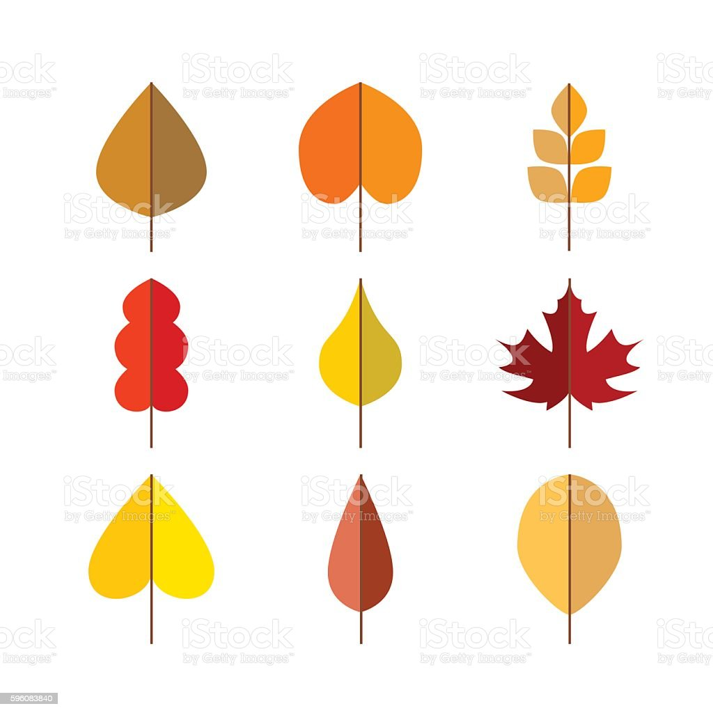 Vector autumn leaves red, orange yellow colors royalty-free vector autumn leaves red orange yellow colors stock vector art & more images of abstract