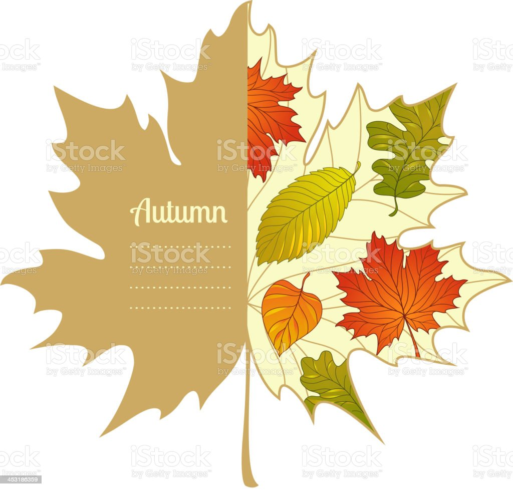 Vector autumnal maple leaf background royalty-free stock vector art