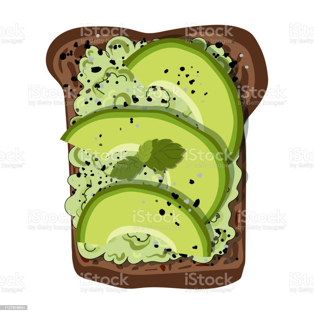 Vector Avocado Toast vector art illustration