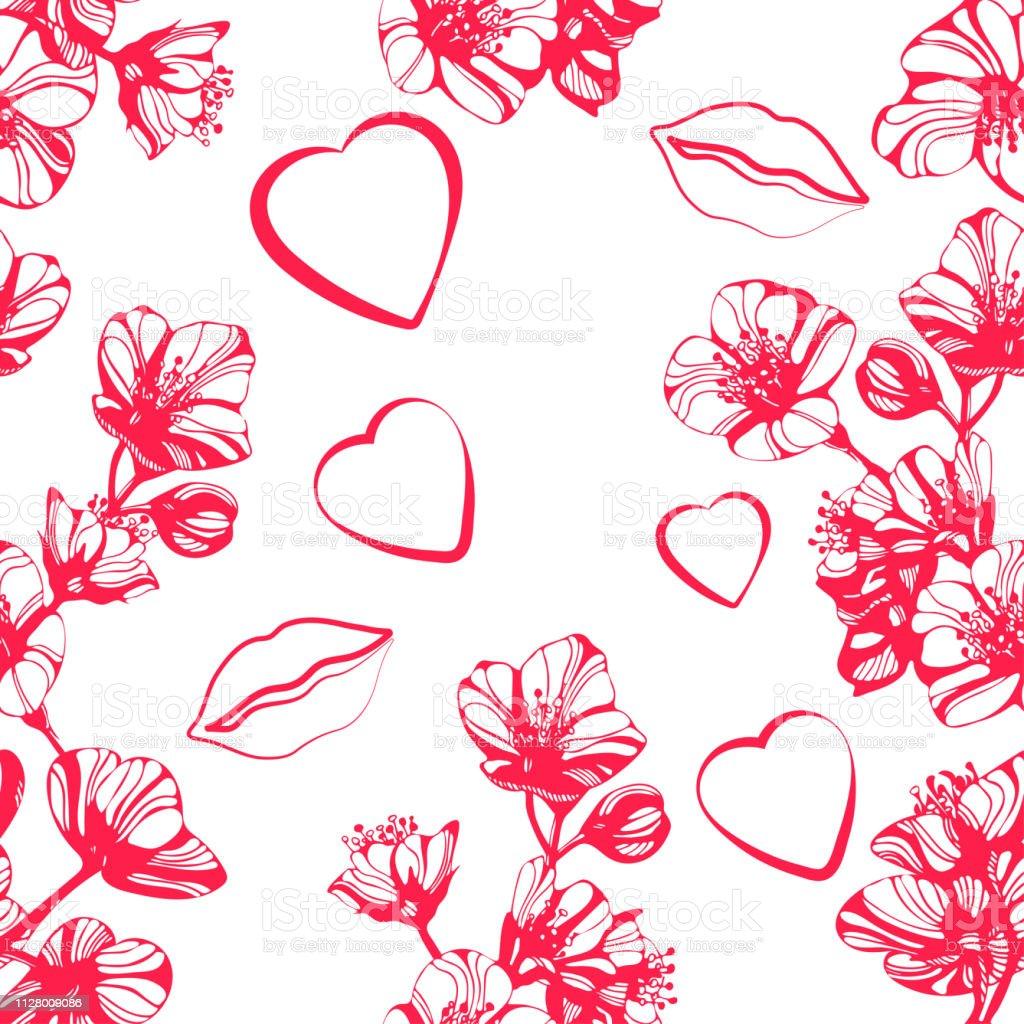 驚くばかりのジャスミンの花唇心をベクトルします手描きのインクのイラスト壁紙やファブリックのデザイン イラストレーションのベクターアート素材や画像を多数ご用意 Istock