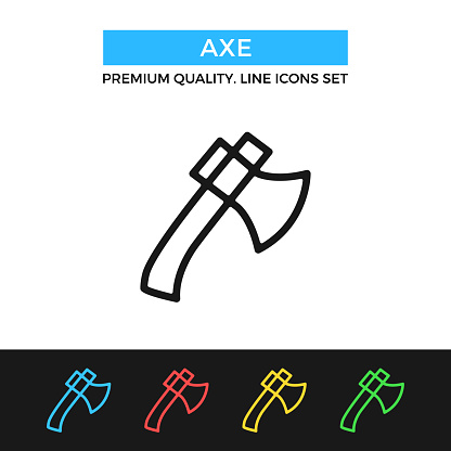 Vector axe icon. Ax, hatchet concepts. Premium quality graphic design. Modern signs, outline symbols collection, simple thin line icons set