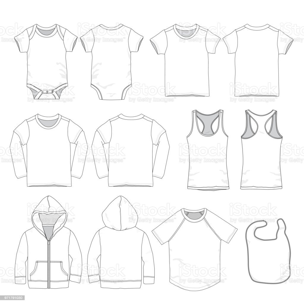 vector baby clothes template stock vector art more images of baby