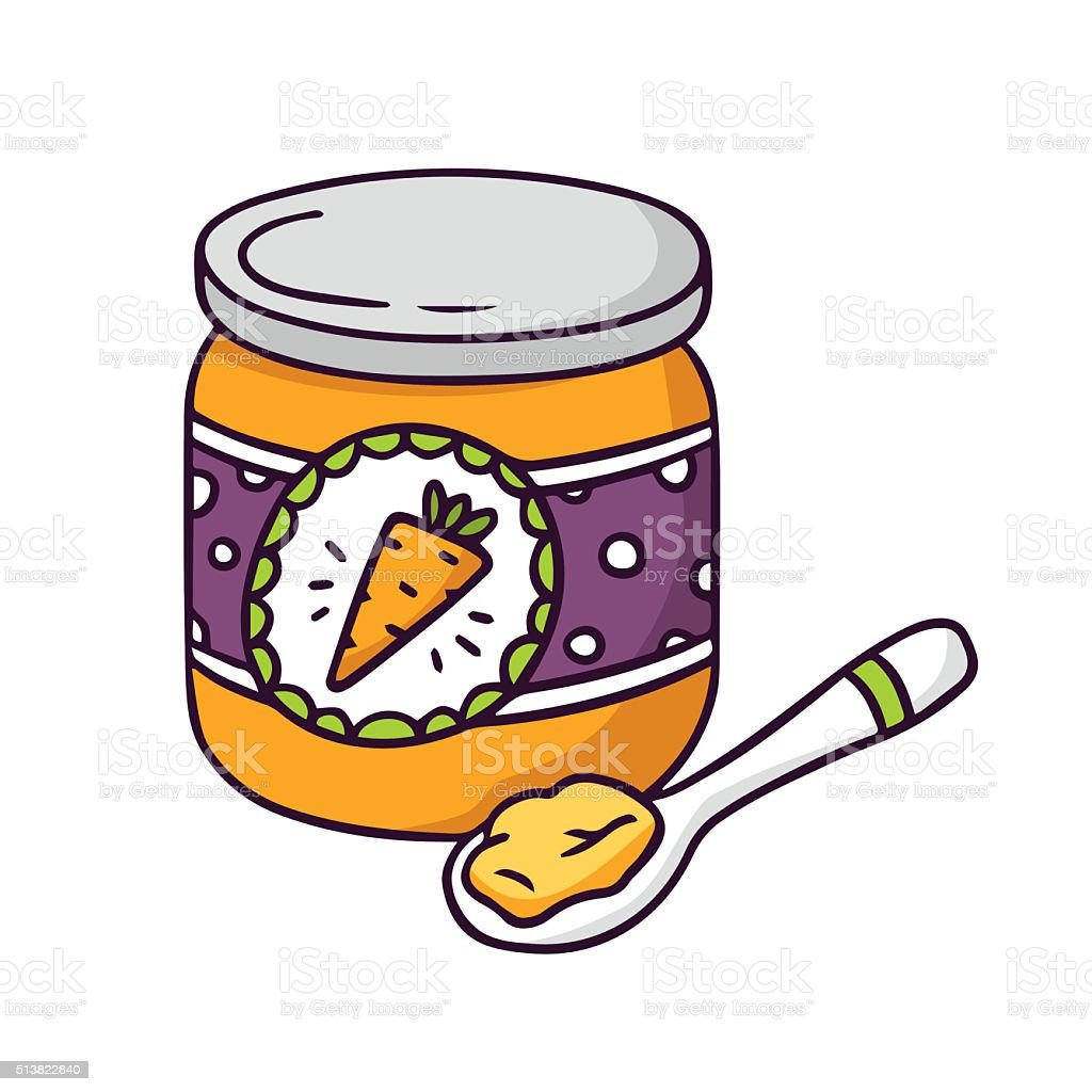 Royalty Free Baby Food Clip Art, Vector Images ...