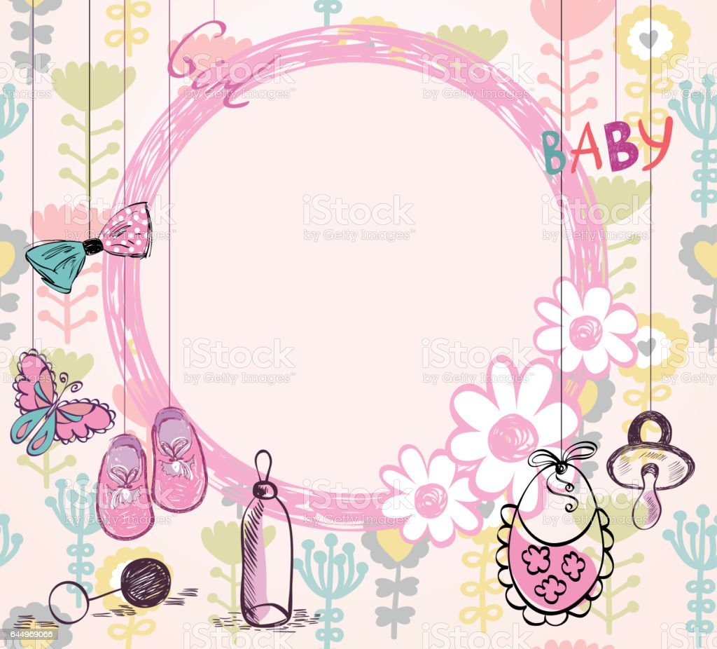 Vector Baby Frame Stock Vector Art & More Images of Abstract ...