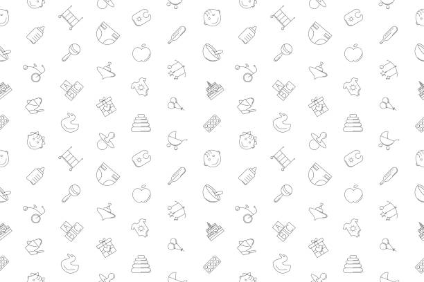Vector baby pattern. Baby seamless background Vector baby pattern. Baby seamless background baby clothing stock illustrations