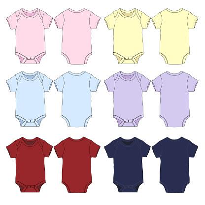 Vector Baby Romper template